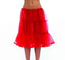 50's Red Net Underskirt/Petticoat Long